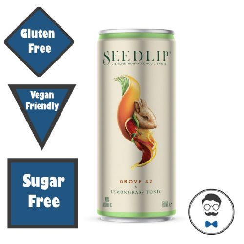 Seedlip Grove 42 & Lemongrass Tonic RTD (0% ABV)